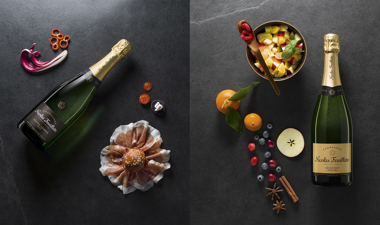 Bouteilles Champagne Nicolas Feuillatte
