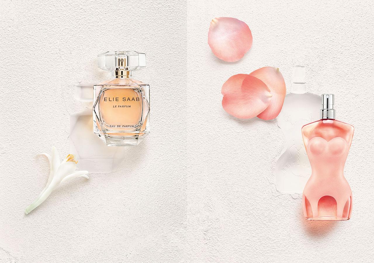 Flcons de parfums Elie Saab & Jean Paul Gaultier