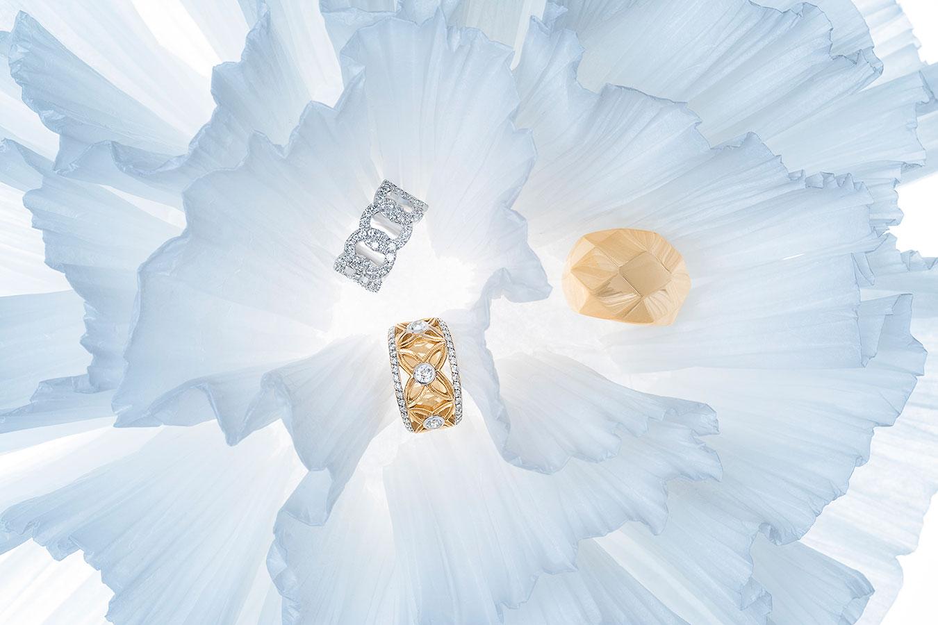 bagues fiançailles joaillerie or et diamant